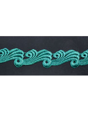 Green guipure lace