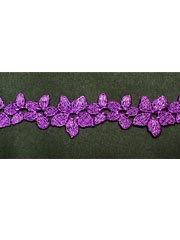 Purple guipure lace