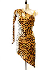 Katy leopard latin dance dress