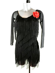 Barbora fringe latin dance dress