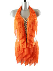 Brona-orange latin dress