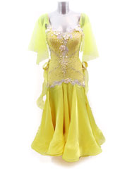 Daisy yellow ballroom dance dress size S/M in stock
