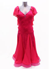 Clarissa pink ballroom dance dress size S/M in stock