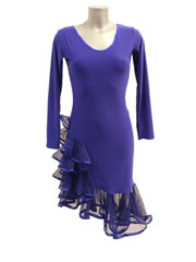 Stella latin dance dress-blue