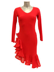 Stella latin dance dress-red