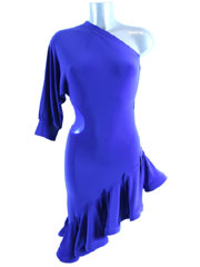 Agathe latin dance dress-blue