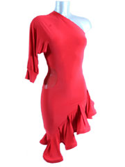 Agathe latin dance dress-red