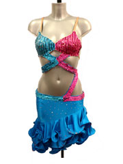 Salma latin dance dress-size 6