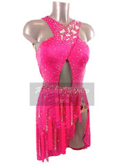 Hailey fluo pink latin dance dress size S/M