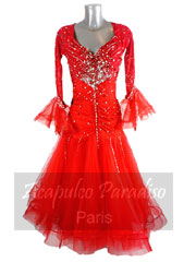 Camelia red ballroom dance dress size M/L
